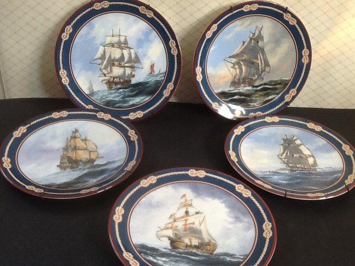 Royal Doulton decorative plates, sailing ships
