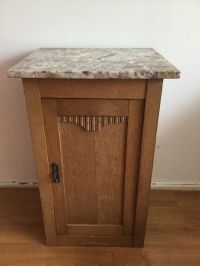 Art Nouveau nightstand with marble top - Catawiki