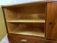 Vintage retro walnut high board / liquor cabinet - Catawiki