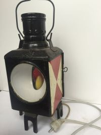 Antique train lamp - with lighting fixture - Catawiki