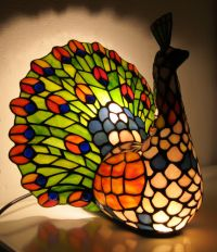 Tiffany-style Peacock lamp - Catawiki