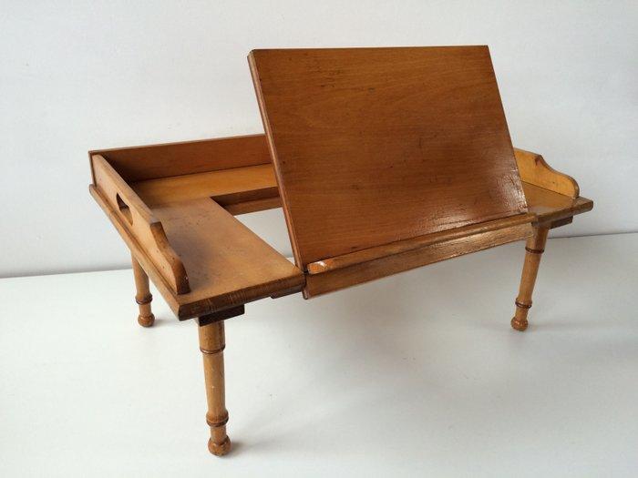 Ancienne table de lit avec planche de lecture  Catawiki