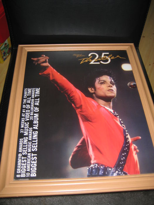thriller 25th anneversary framed