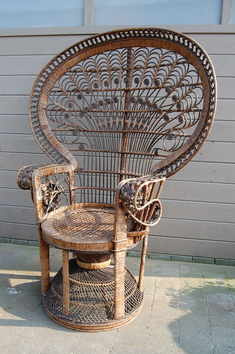 rattan peacock chair chamber pot antique designer unknown catawiki