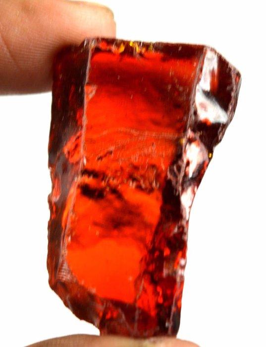 Uncut Cambodian Orange Zircon Gemstone Rough, 37 Grams