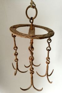 Rare bucket holder for wells-wrought iron-age: late 1800s ...