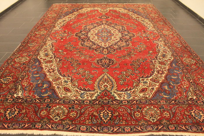 magnifique tapis persan antique art