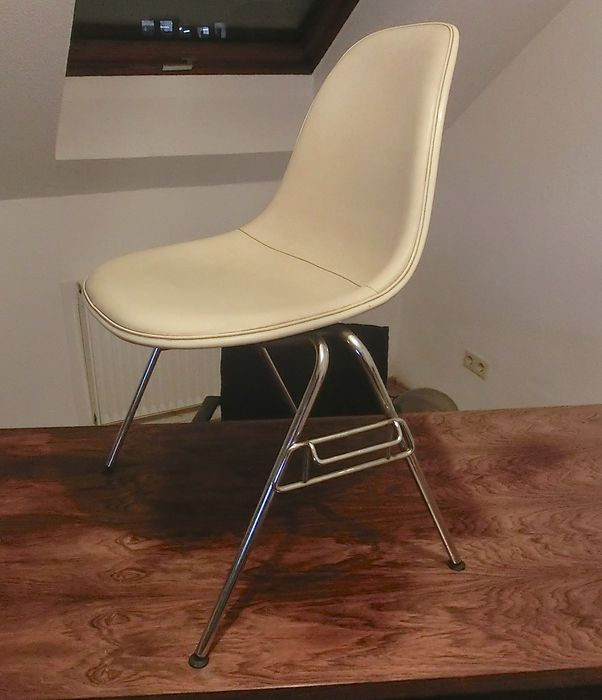 herman miller stacking chairs electric for sale charles ray eames chair plastic side dss