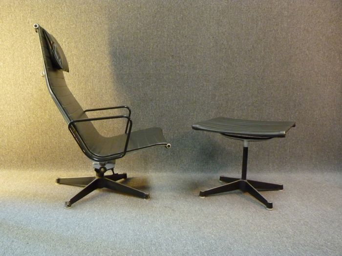 eames aluminum chair folding table with chairs stored inside charles ray for herman miller group lounge ea124