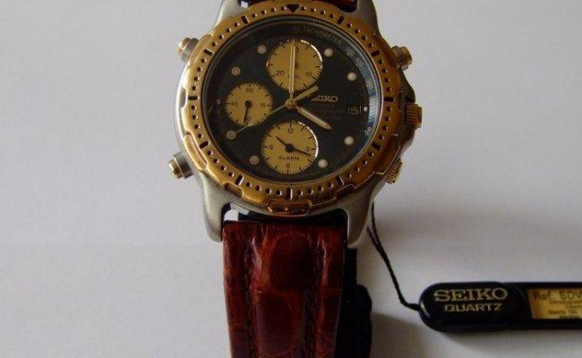 Seiko Chronograph Sports 150 7t32 F020 Men 1990