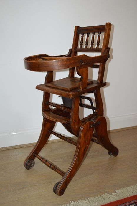 antique high chairs big and tall executive leather office victorian metamorphic childs chair england 1896