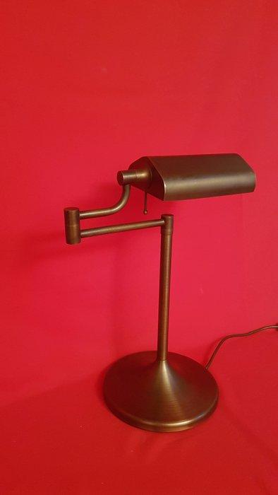 Brass adjustable desk lamp/bankers lamp