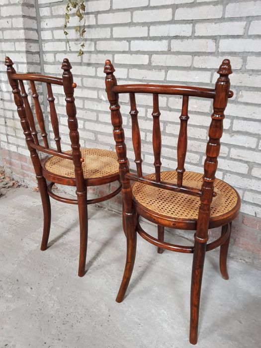 antique wooden chairs pictures chair exercises for obese two fischel ca 1900 1910 catawiki