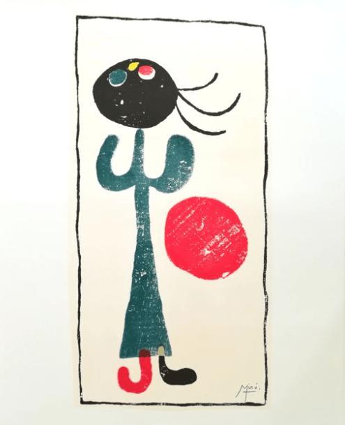 La Petite Fille Au Ballon Analyse : petite, fille, ballon, analyse, Miró, Petite, Fille, Ballon, Rouge, (d'après), Catawiki
