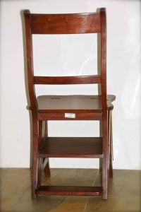 Old wooden library ladder / chair (foldable) - Catawiki