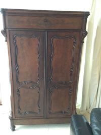 Mahogany wooden Biedermeier linen cabinet
