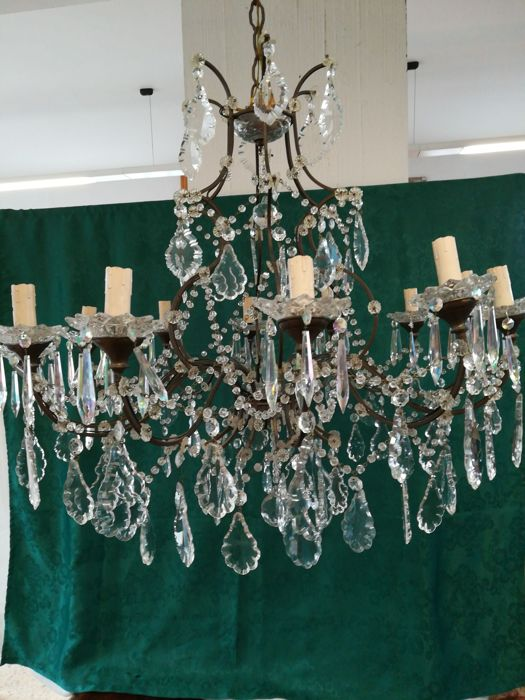 Trova una vasta selezione di lampadario cristallo boemia a lampade, lampadari e applique d'antiquariato a prezzi vantaggiosi su ebay. Lampadario 12 Luci Cristallo Di Boemia Primo 900 Catawiki