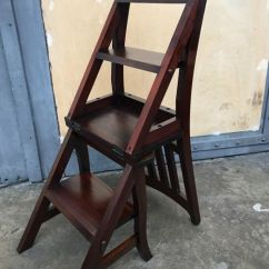 Wooden Library Chair Ted Modern Barrel Teak Ladder Second Half Of 20th Century