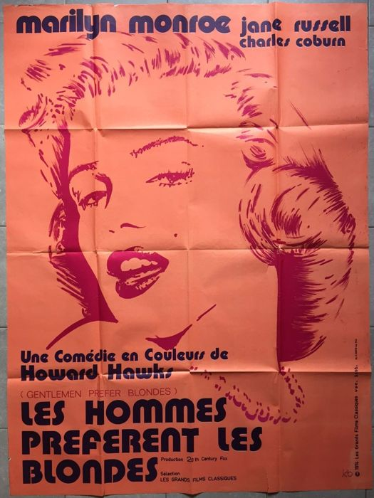 Les Hommes Préfèrent Les Blondes : hommes, préfèrent, blondes, Hommes, Préfèrent, Blondes, Gentlemen, Prefer, Catawiki