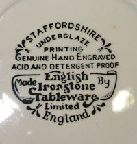English Ironstone Tableware, 2 Pastry sets Old inns Series ...