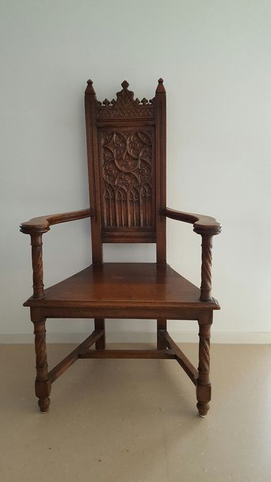 Wooden church chair  early 20th century  Catawiki