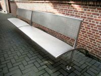 Two large garden benches/park benches made of stainless ...