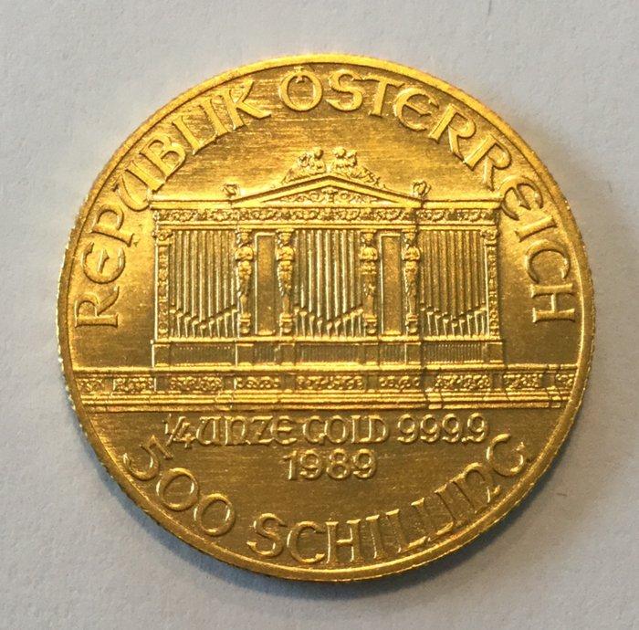 Austria – 500 schilling 'Vienna Philharmonic' 1989 – 1/4 oz fine gold - Catawiki