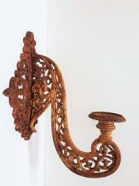 Large cast iron wall sconce - France - ca. 1970 - Catawiki