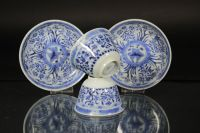 Set of two blue and white cups and saucers - China - 19th ...