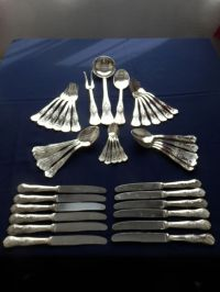 45-piece silver plated cutlery set. - Catawiki