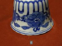 Blue and white cups and saucers  China  19th century ...