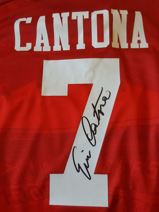 The ultimate manchester united number seven. Eric Cantona - Official retro Manchester United Jersey no ...