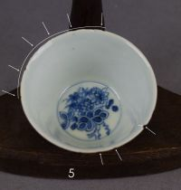 Blue and white cups and saucers  China  18th/19th ...