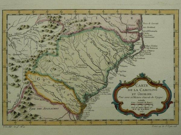 America North South Carolina Georgia N Bellin Carte