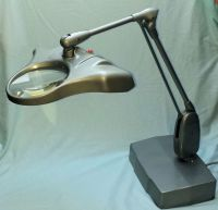 Dazor Floating fixture  Desk lamp with magnifying glass ...