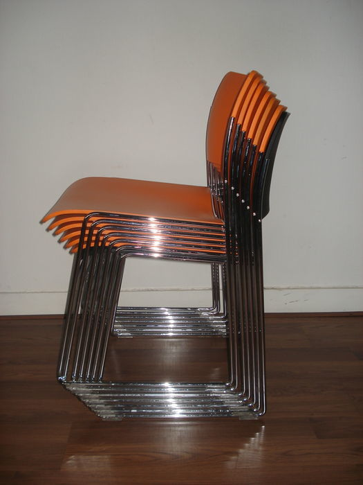 david rowland metal chair ikea stockholm dining for howe set of 7 very original chairs model 40