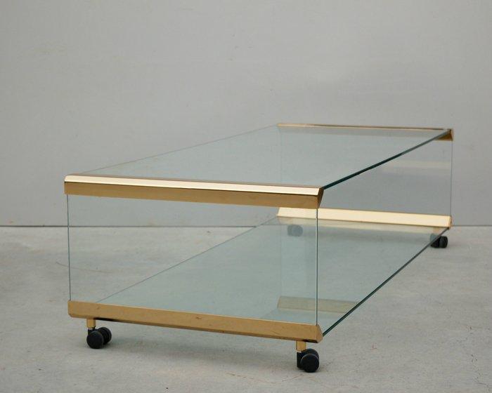 designer glass coffee on wheels