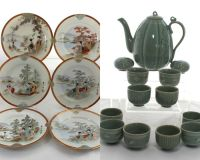 Japanese Ceramic Tableware - Celadon Pottery Tea Set for ...