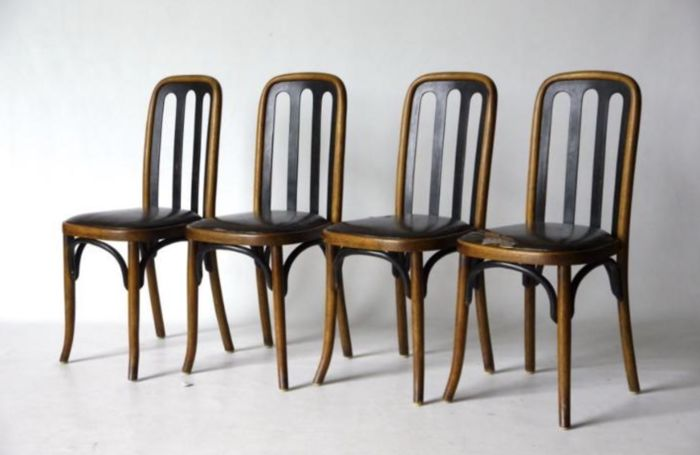 set of 4 dining chairs chair cover rental ct josef hoffmann for thonet 1905 catawiki