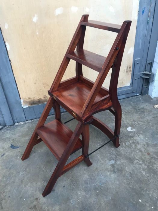 library chair ladder all modern dining chairs teak wooden second half of 20th century