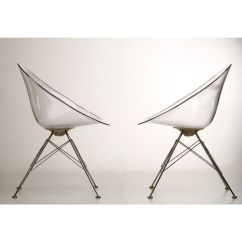 Design Chair Kartell Volcanic Hanging Philippe Starck For 2 Transparent Eros Chairs Catawiki