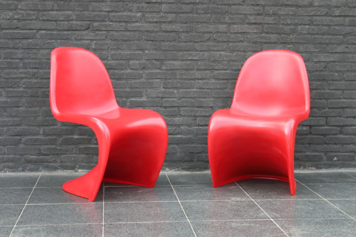 vernon panton chair office chairs ebay verner vitra couple of catawiki