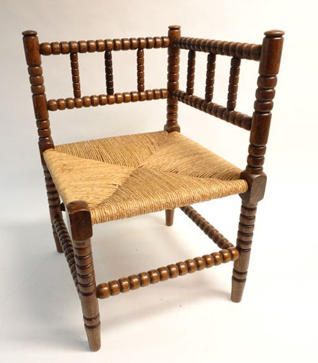 wooden corner chair covers for hire south wales oak and rush seat wood catawiki