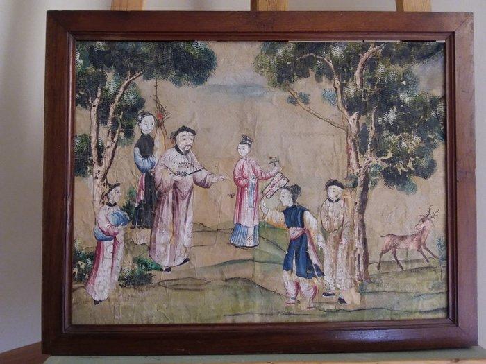 Painting - Silk - China - Qianlong (1736-1795) - Catawiki