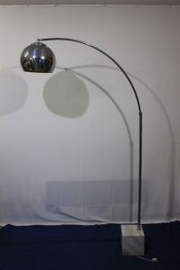 Unknown designer - Steel, arched table lamp - Catawiki