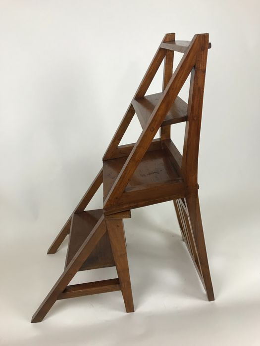 library chair ladder perego high wooden second half of 20th century catawiki