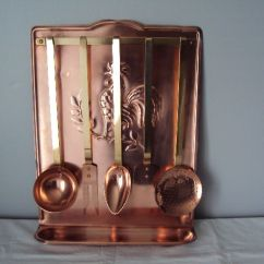 Copper Kitchen Utensil Holder Cheap Flooring Antique Collector S Complete Made Of And Brass France