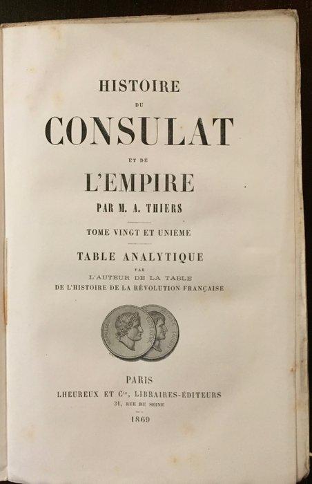 Histoire Du Consulat Et De L'empire : histoire, consulat, l'empire, Adolphe, Thiers, Histoire, Consulat, L'Empire, Catawiki
