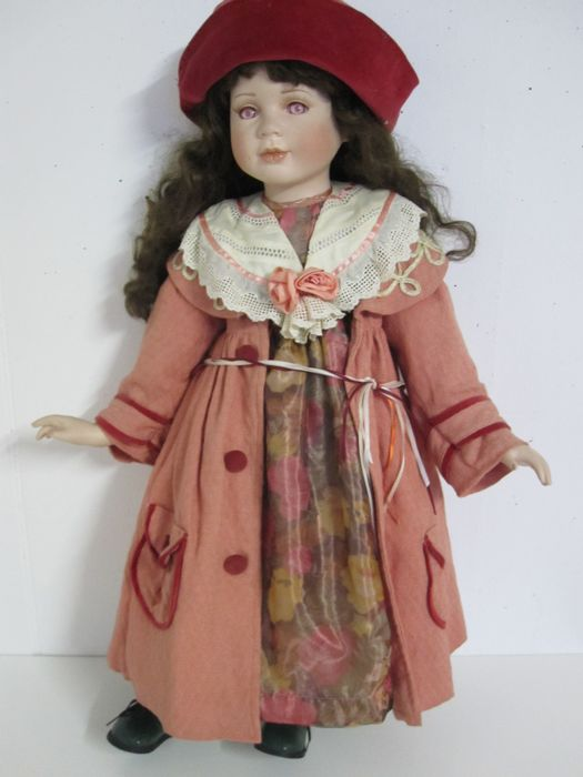 Old vintage porcelain doll excellent quality  80 cm limited 00061200  Catawiki