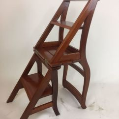 Wooden Library Chair Your Zone Flip Mint Ladder Second Half Of 20th Century Catawiki